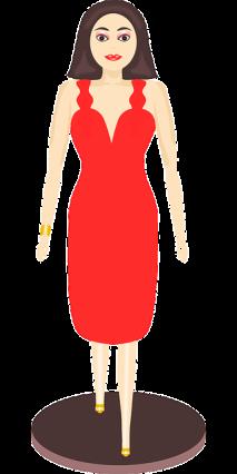 Kleiderpuppe rotes Kleid