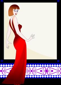 Kleid rot Spiegel