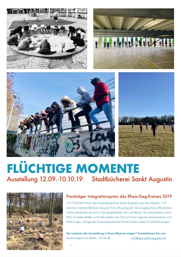 Plakat Fotoausstellung Fluechtige Momente 2019