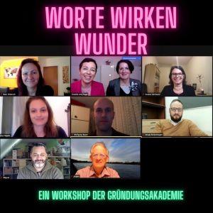 Online Seminar Worte wirken Wunder Peggi Liebisch und Claudia Reuschenbach Zoomansicht Teilnermer*innen
