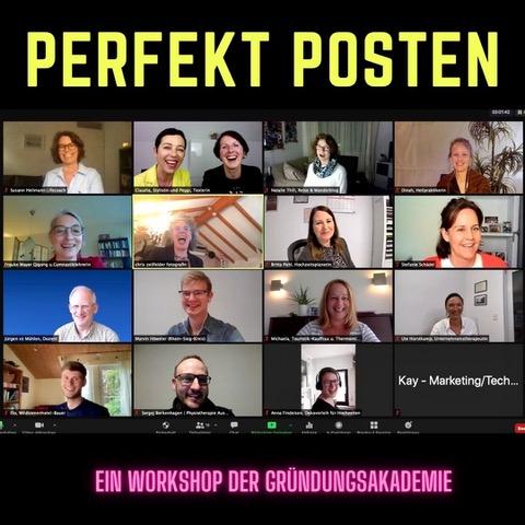 Screenshot Onlineworkshop Perfekt Posten